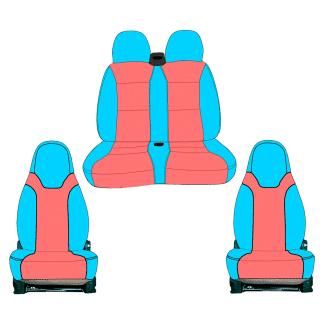 asiento doble pack premium